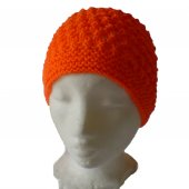 Orange Patterned Hat