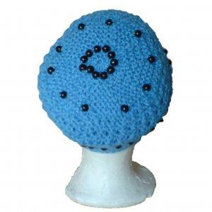 Blue Beaded Hat