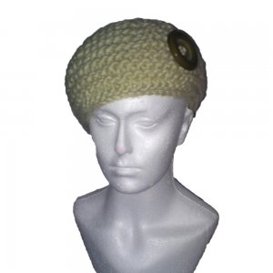 Pale Green Garter Stitched Hat