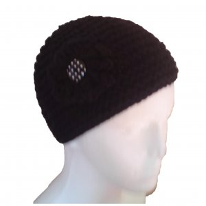 Black Garter Stitched Hat