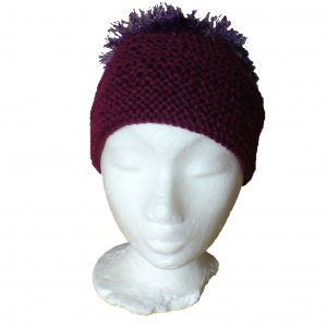Purple front and lilac crown patterned hat - 2 tone hat
