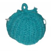 Turquoise Fluffy Tea Cozy - large size