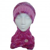 Multi Pinks Hat and Short Scarf