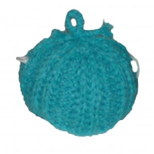Turquoise Fluffy Tea Cozy - large size