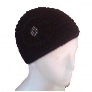 Black Garter Stitched Hat