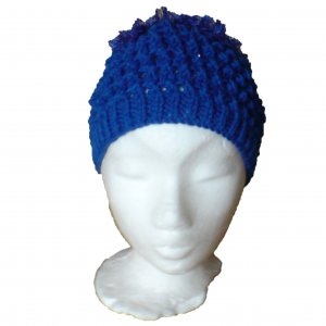 Royal Blue Fluffy Style Hat