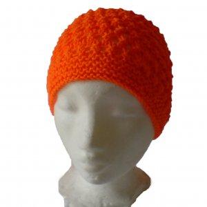 Orange Patterned Hat